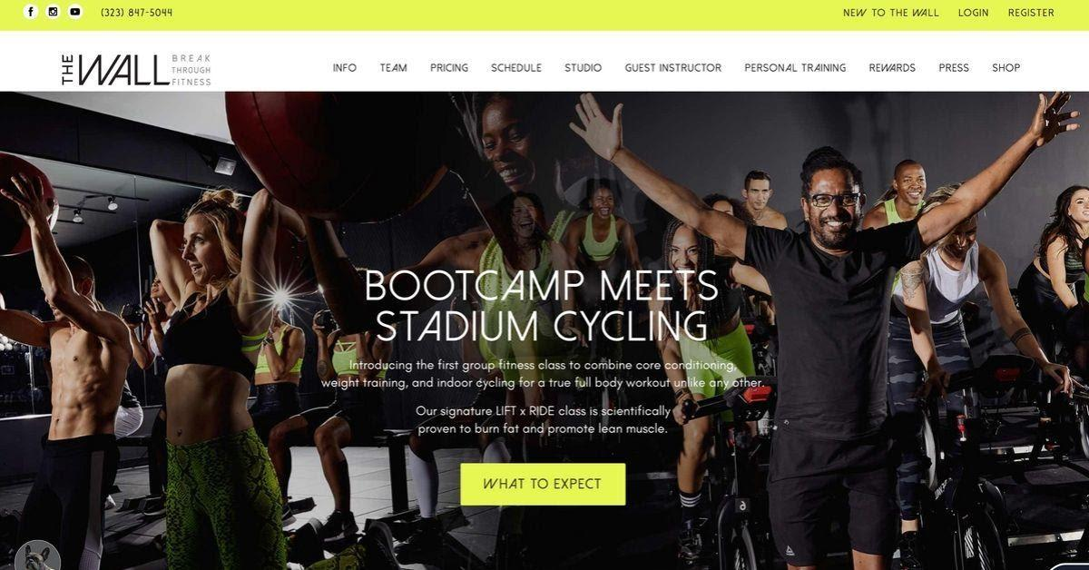 The wall gym website