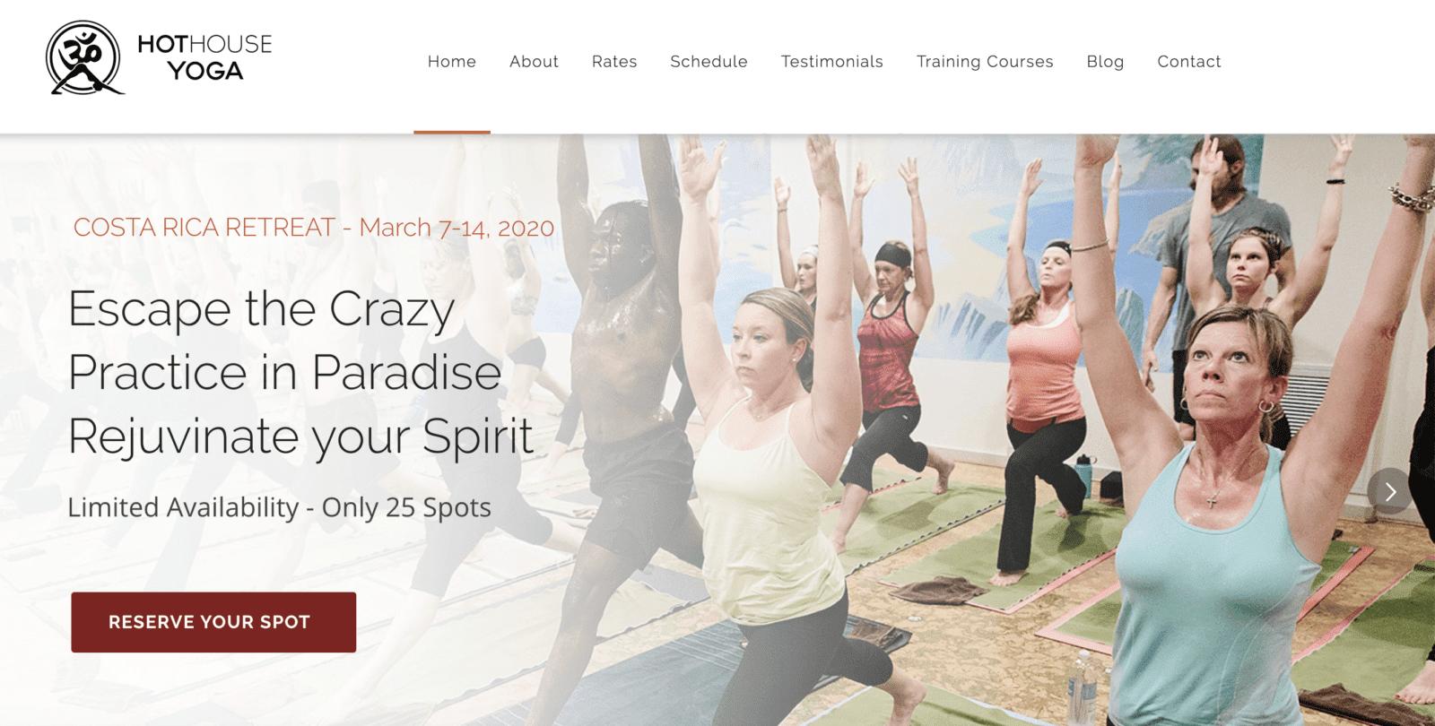 hot house yoga website