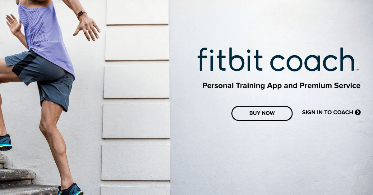 screenshot of the fitbit coach homepage