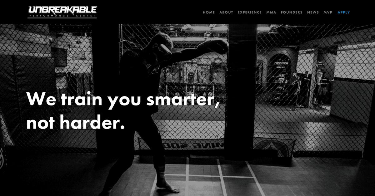 unbreakable homepage